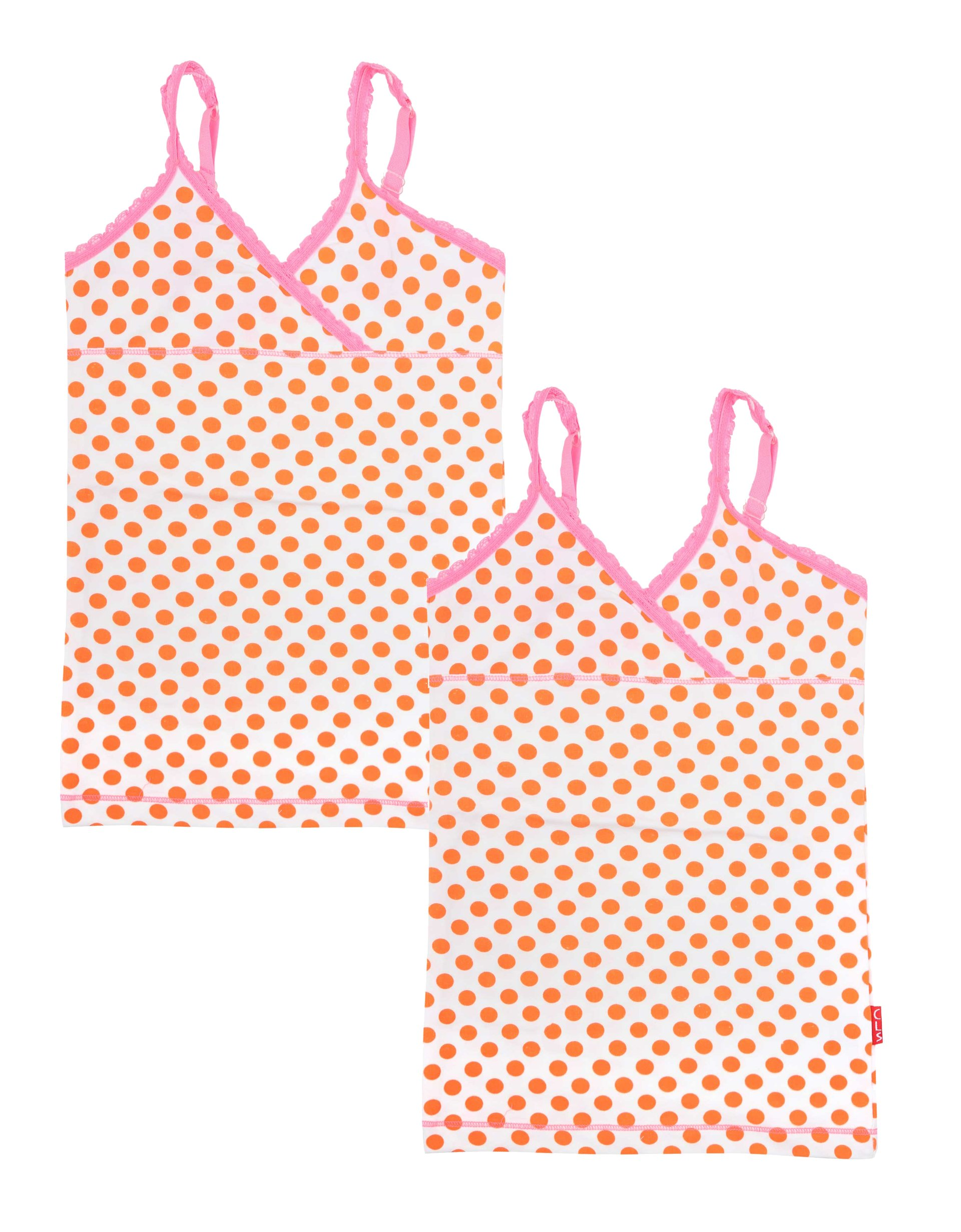 Singlet 2-pack Orange Dots