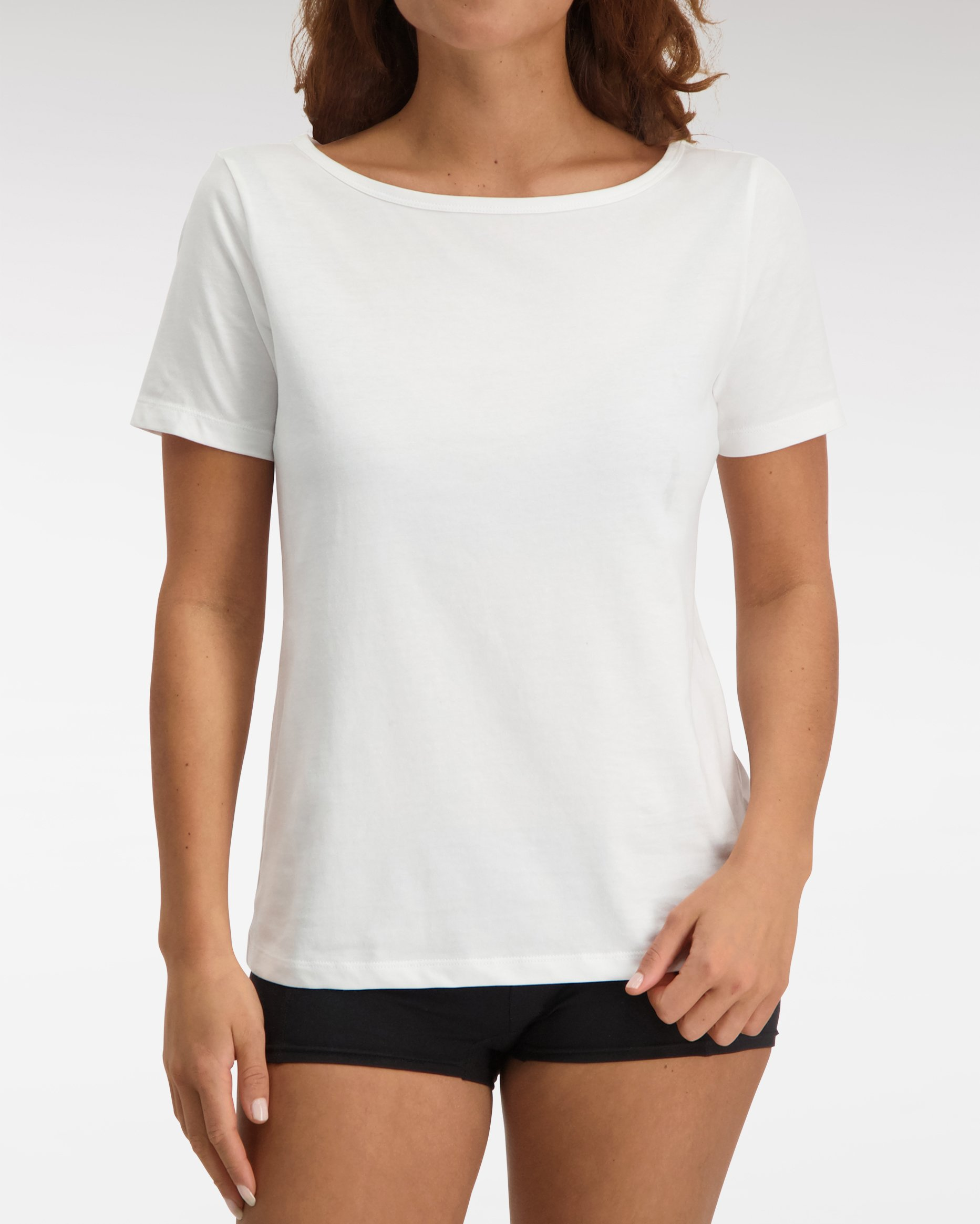 Loose Fit Boat Neck T shirt SS