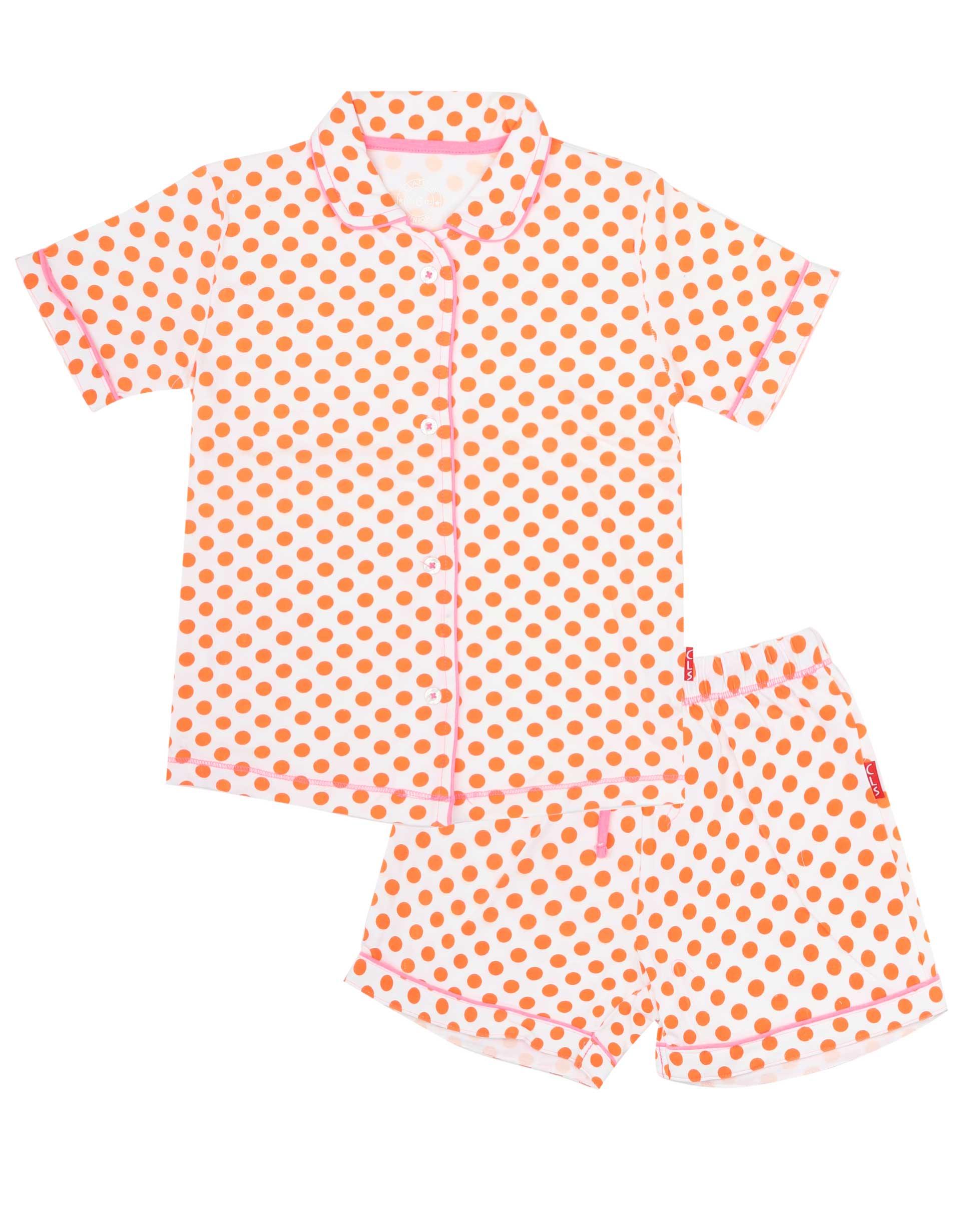 Pyjamaset Orange Dots