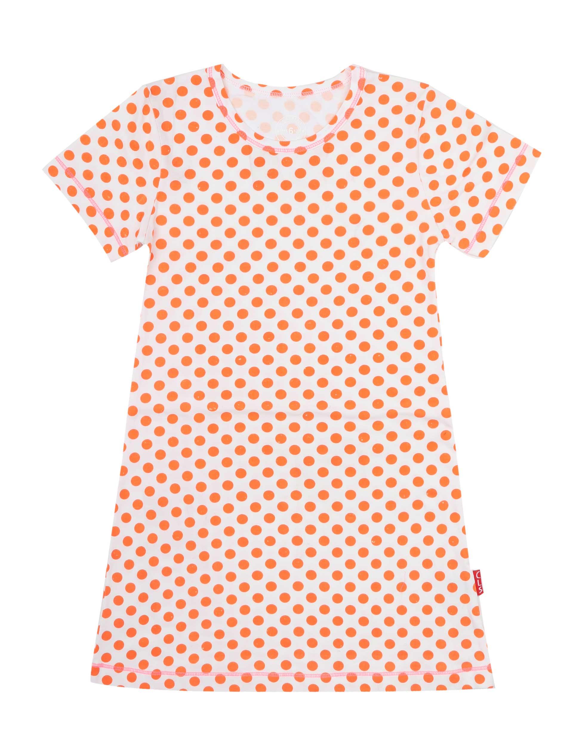 Jurk Orange Dots