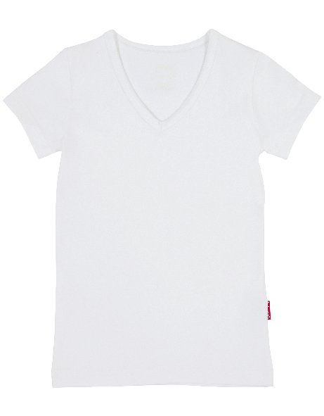Girls V-neck T-shirt SS