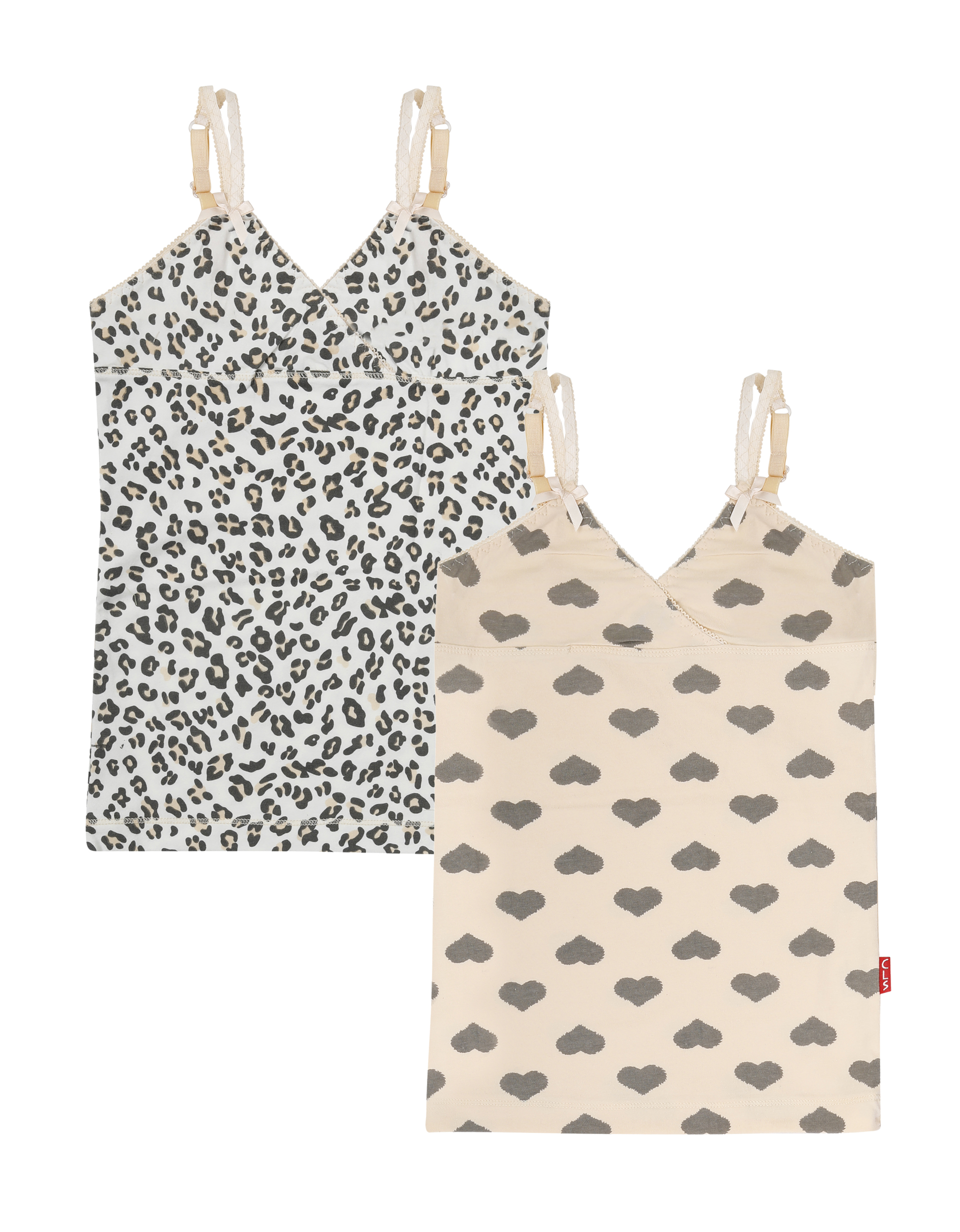 Singlet 2-pack Hearts Panther