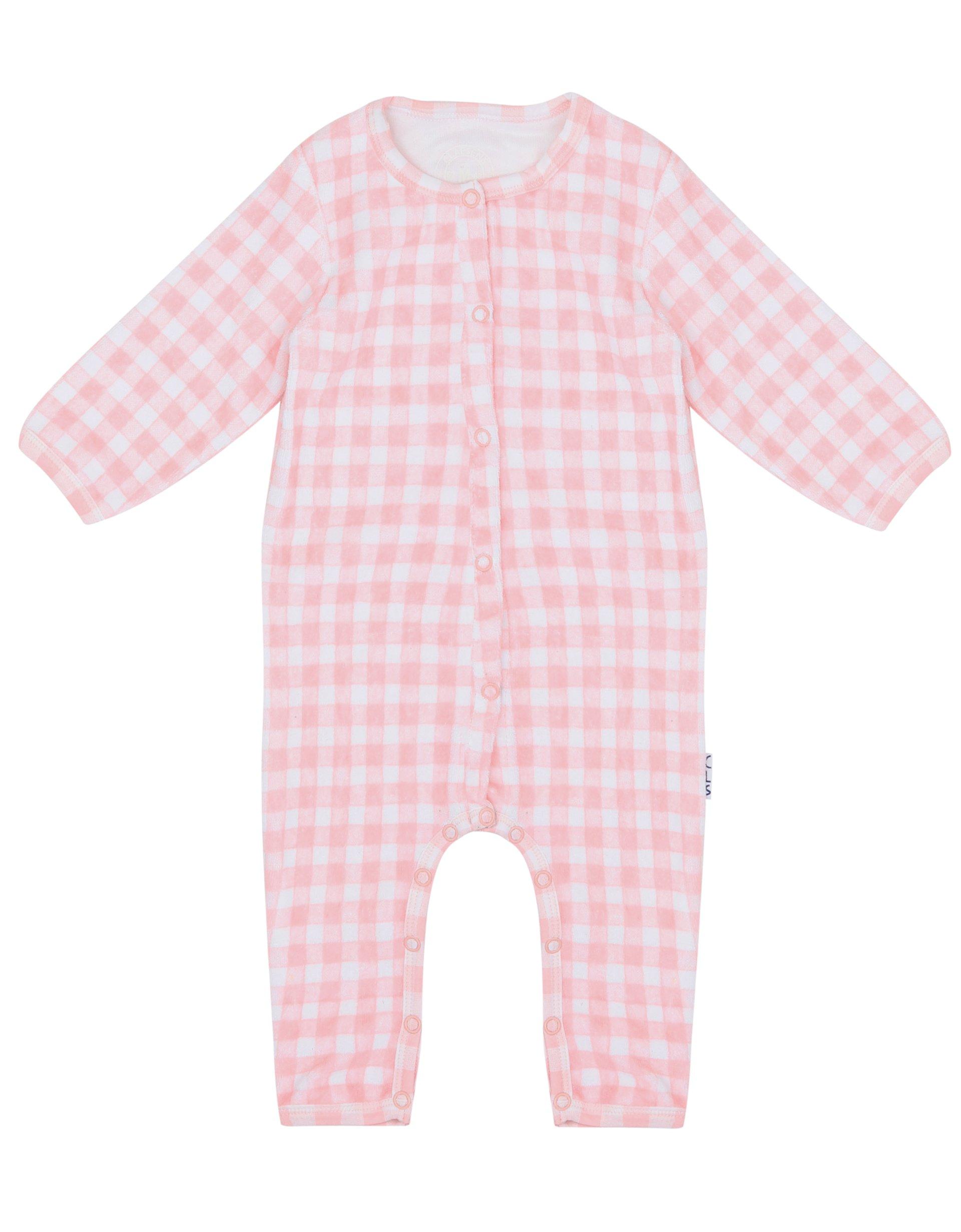 Babypak Badstof Pink Checks