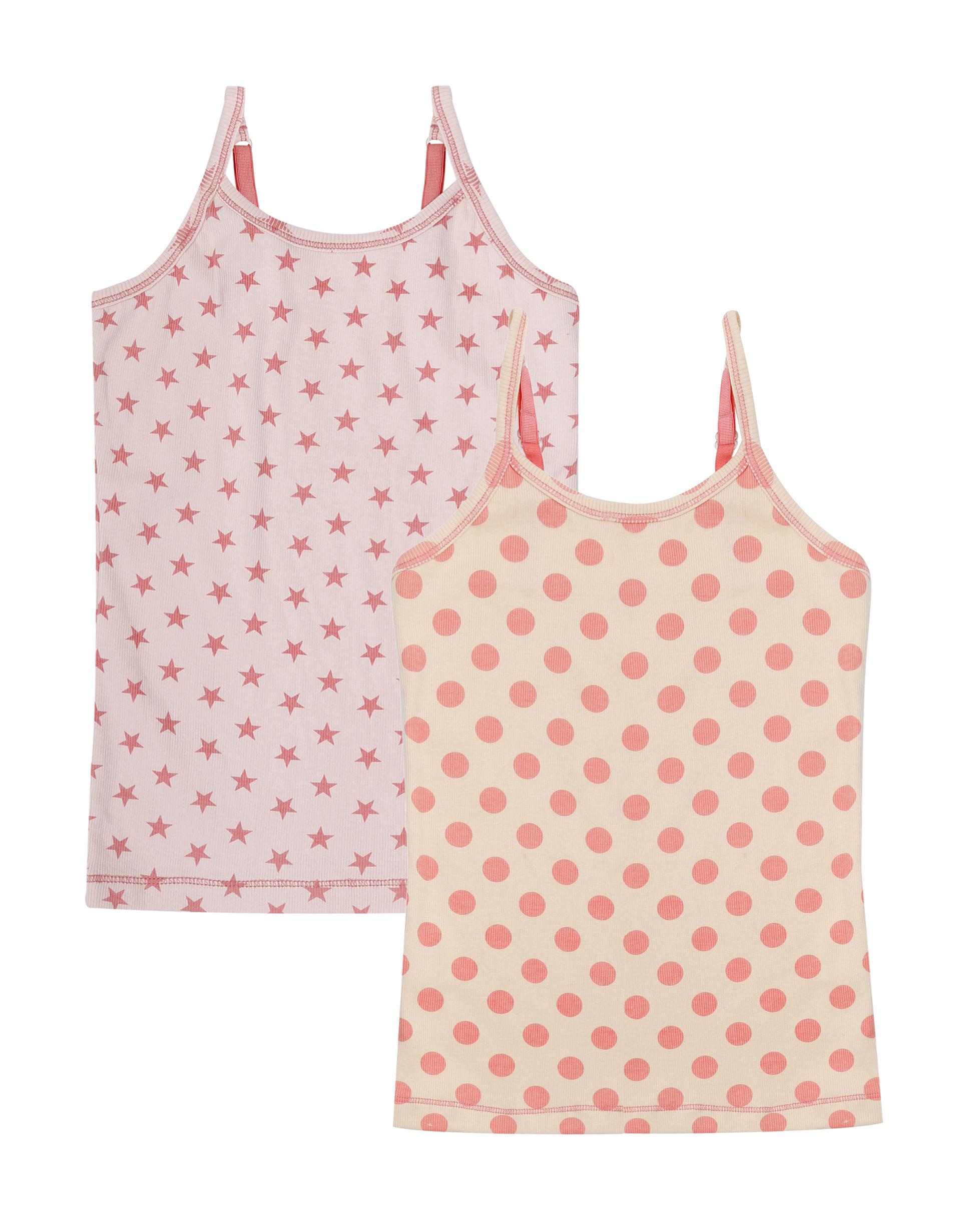 Singlet 2-pack Pink Star