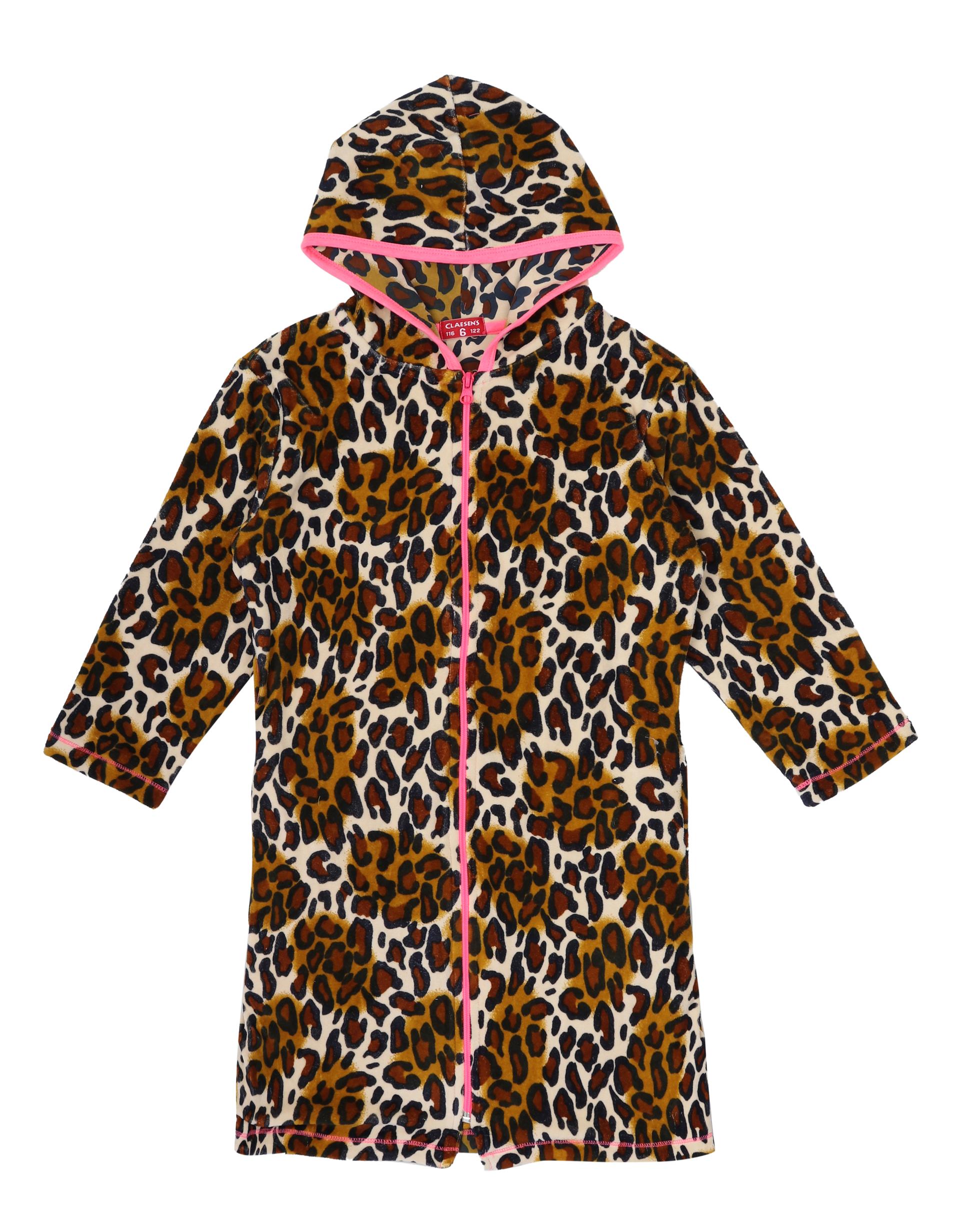 Badjas Velours Brown Panther