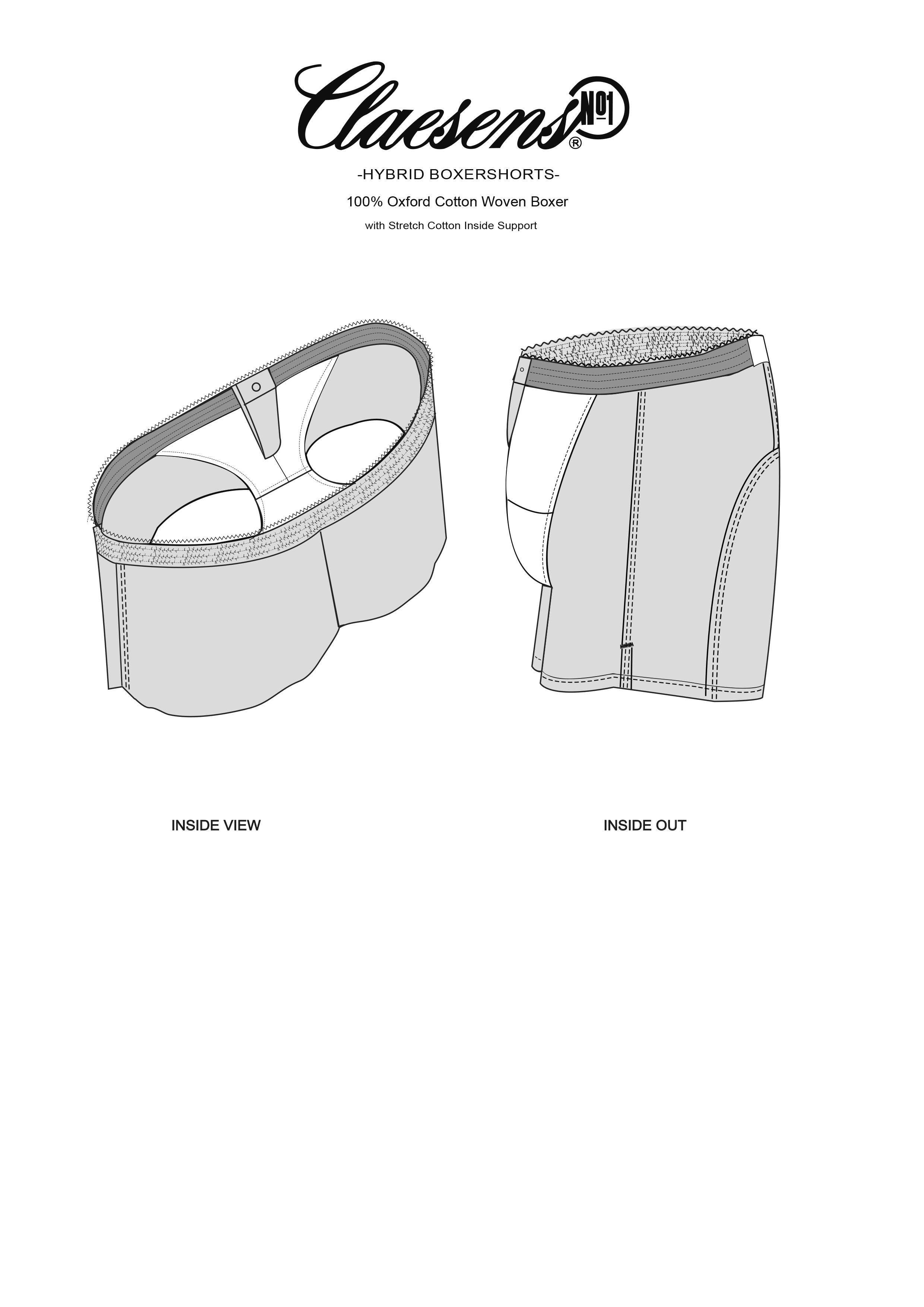 Woven 2 pack Hybride Boxer
