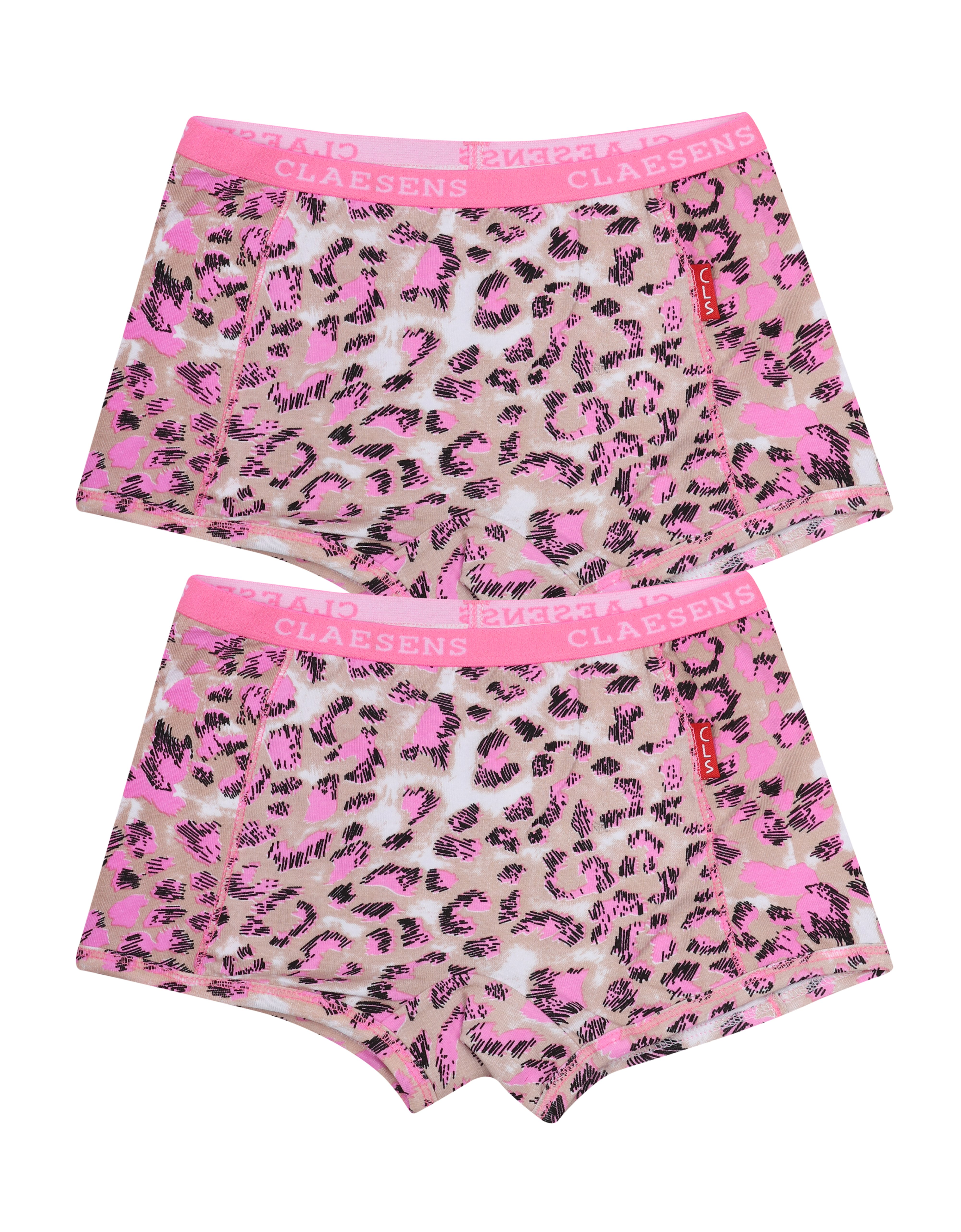 Girls 2 Pack Boxer