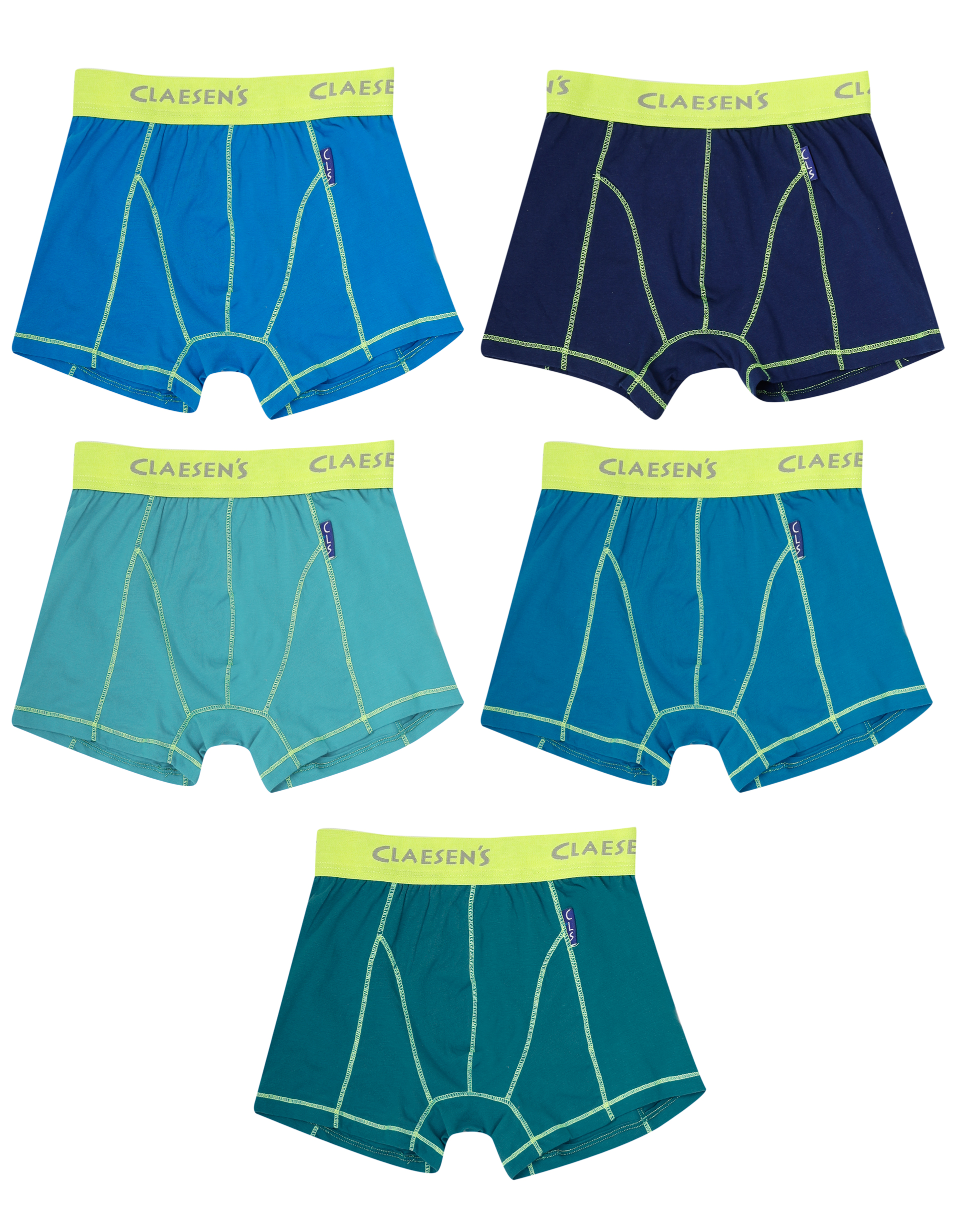 Boxershorts 5-pack Solid