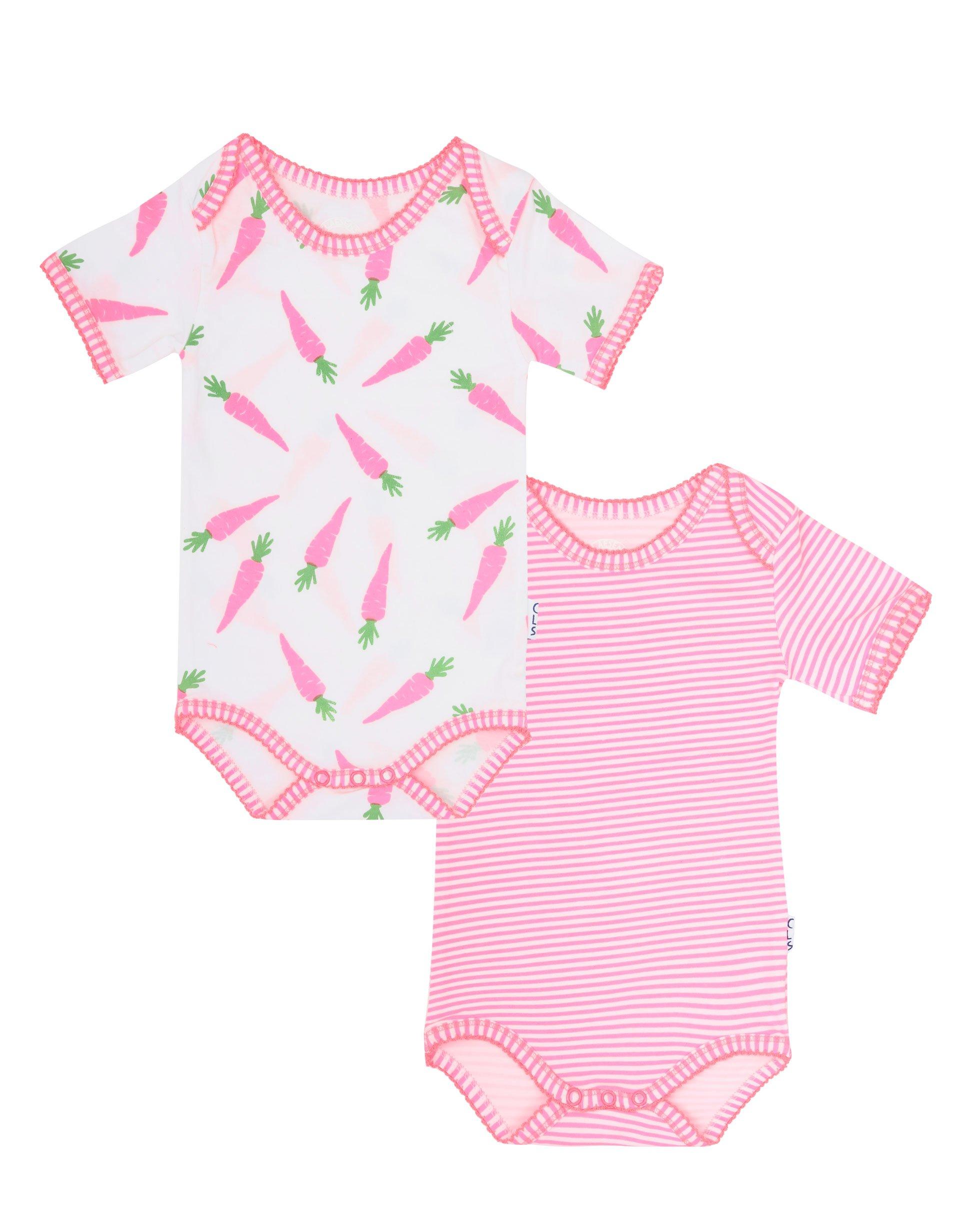 Baby Girls 2 Pack Romper