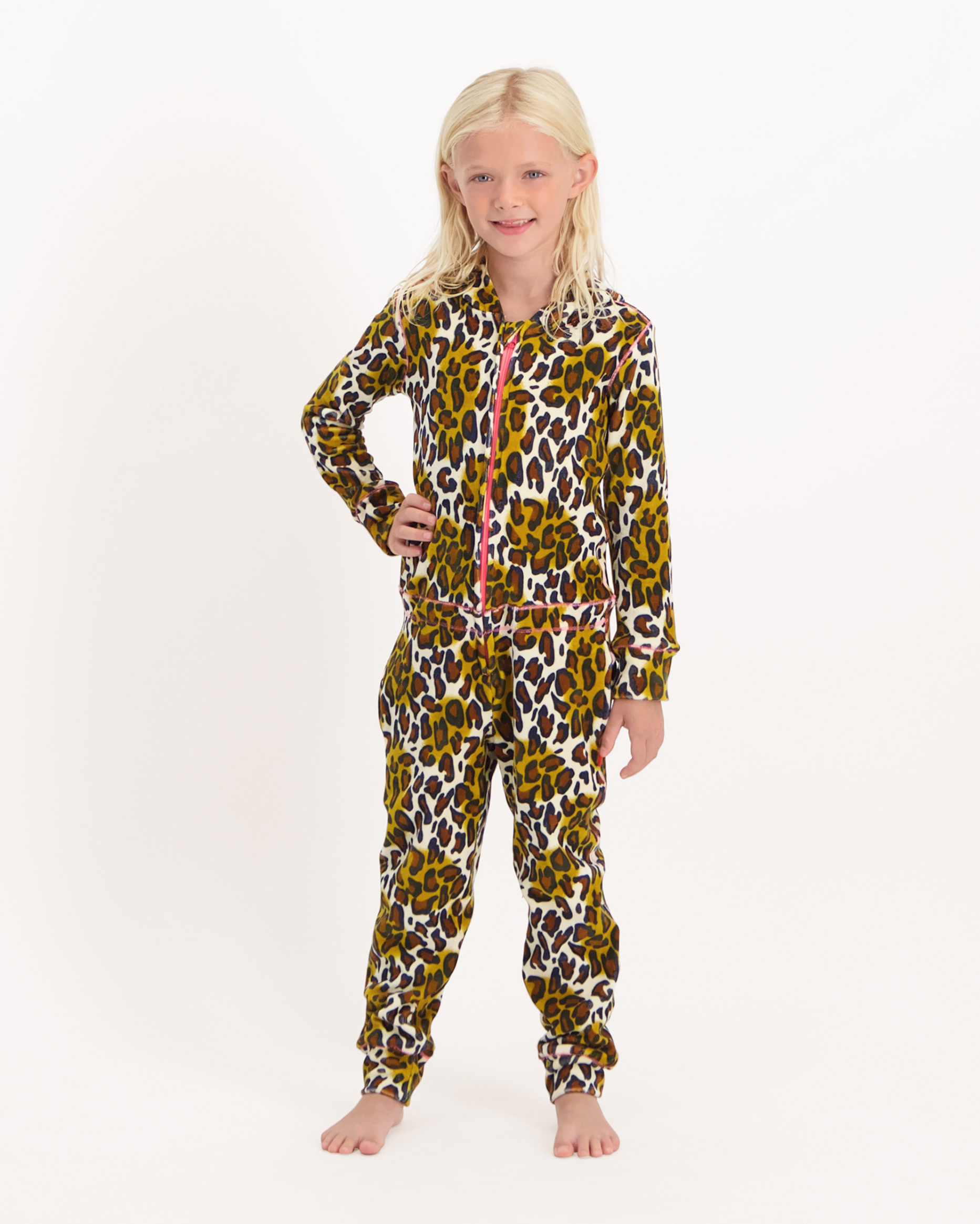 Jumpsuit Velours Brown Panther