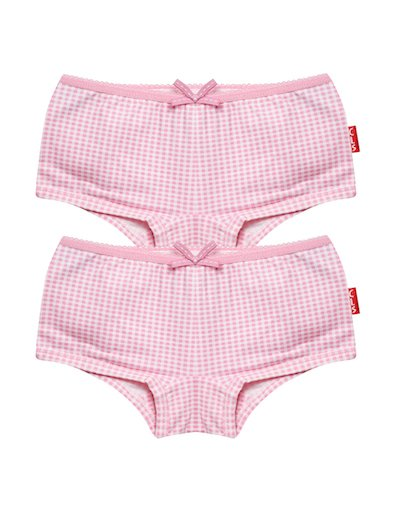 Hipster 2-pack Small Pink Checks