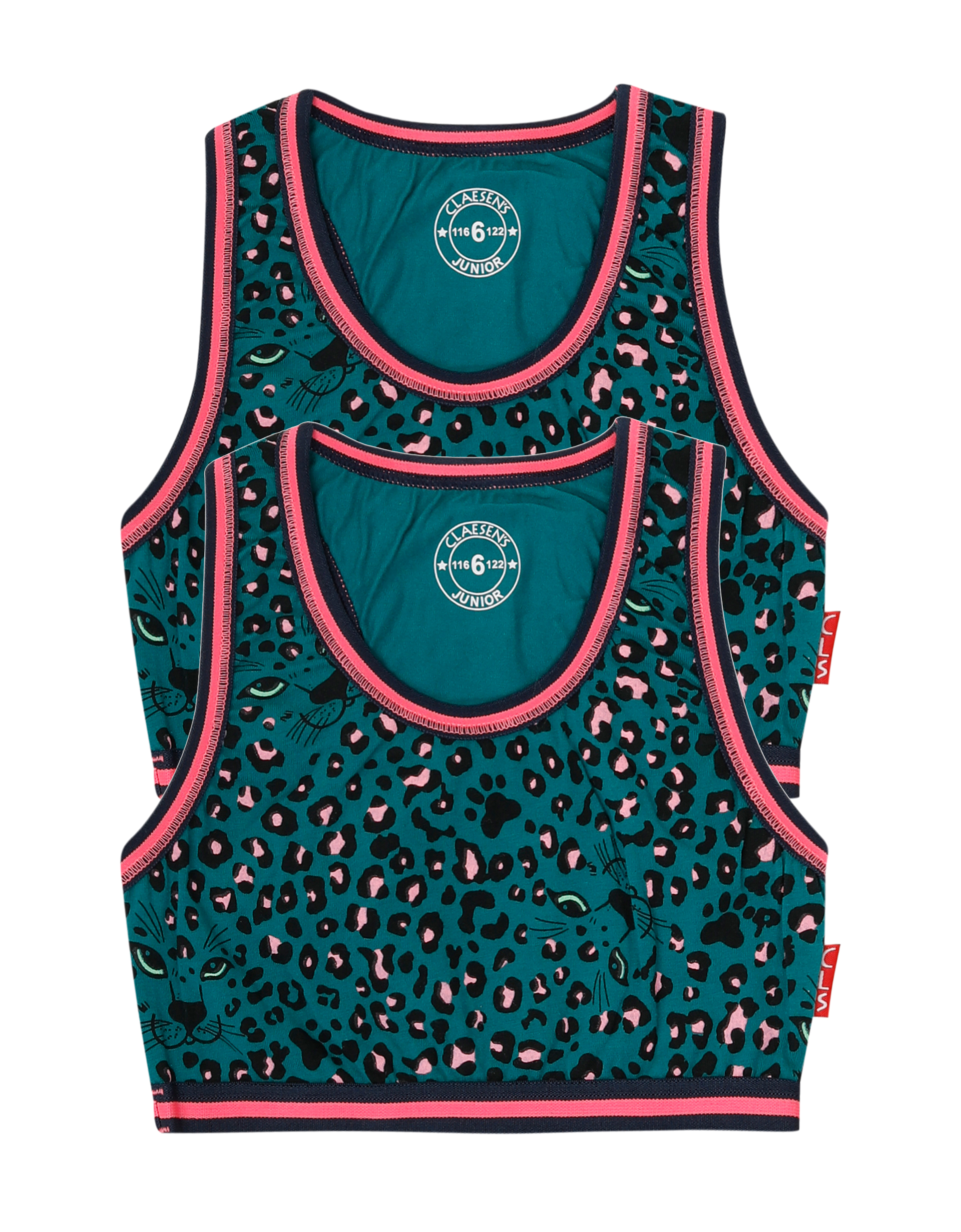 Bralette 2-pack Green Panther