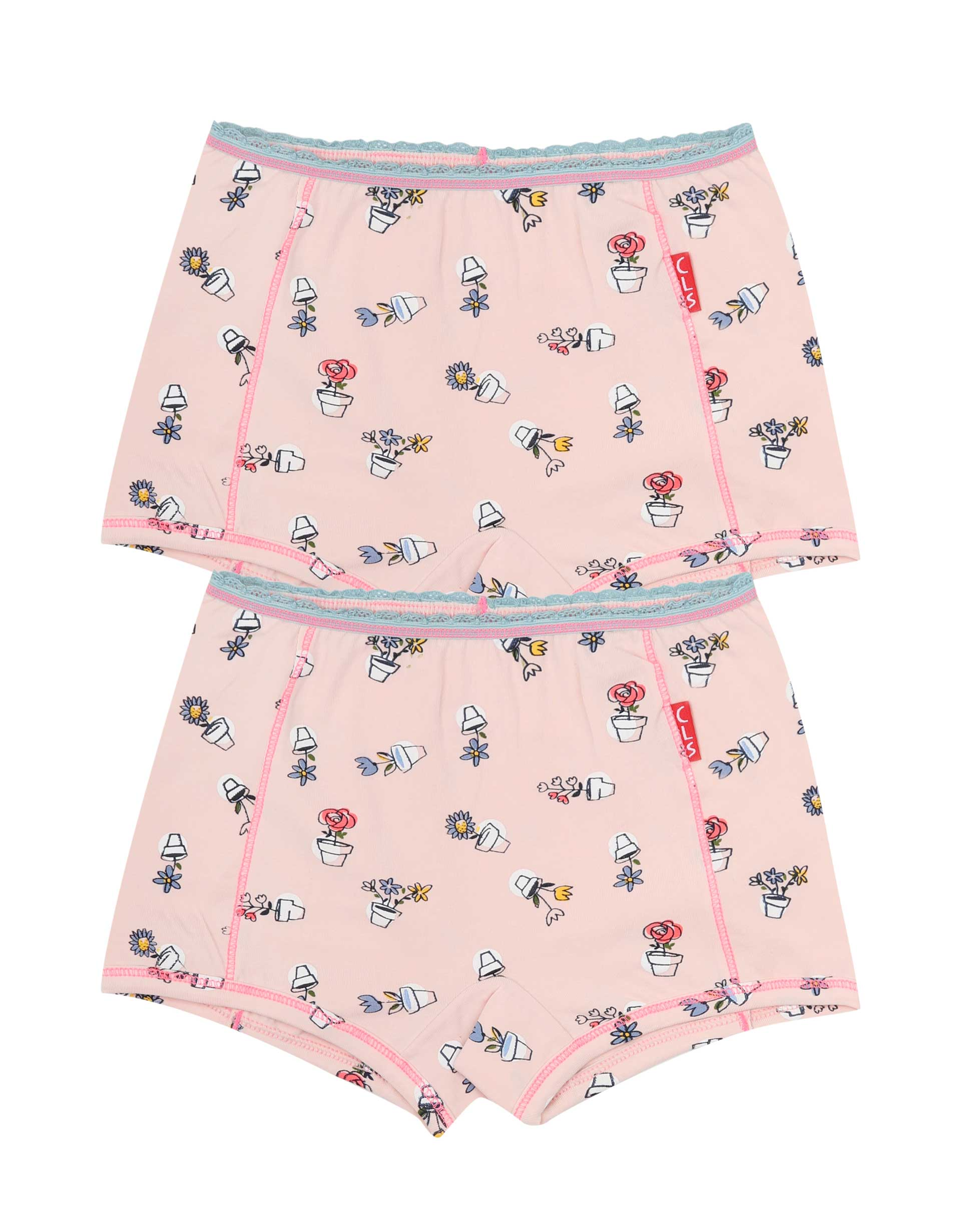 Boxershorts 2-pack Pink Plants