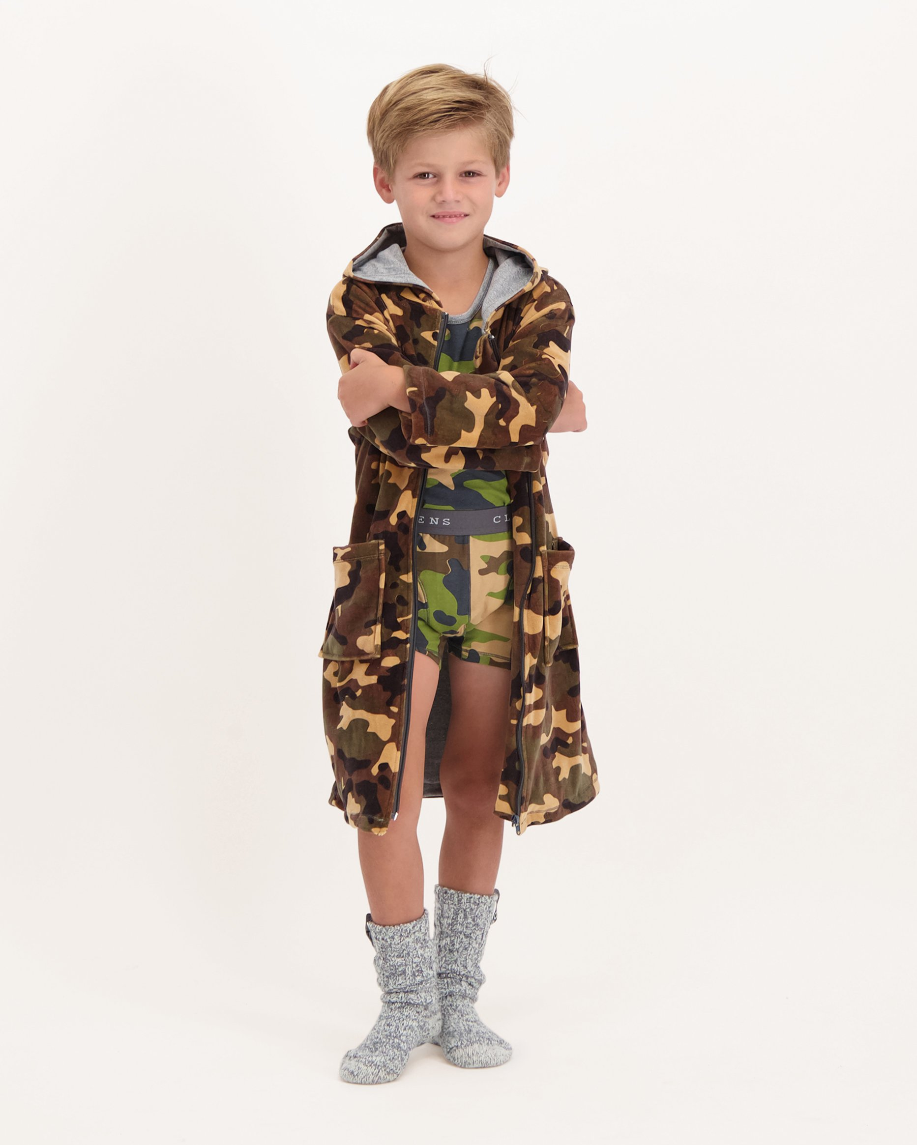 Boys Velvet Bathrobe