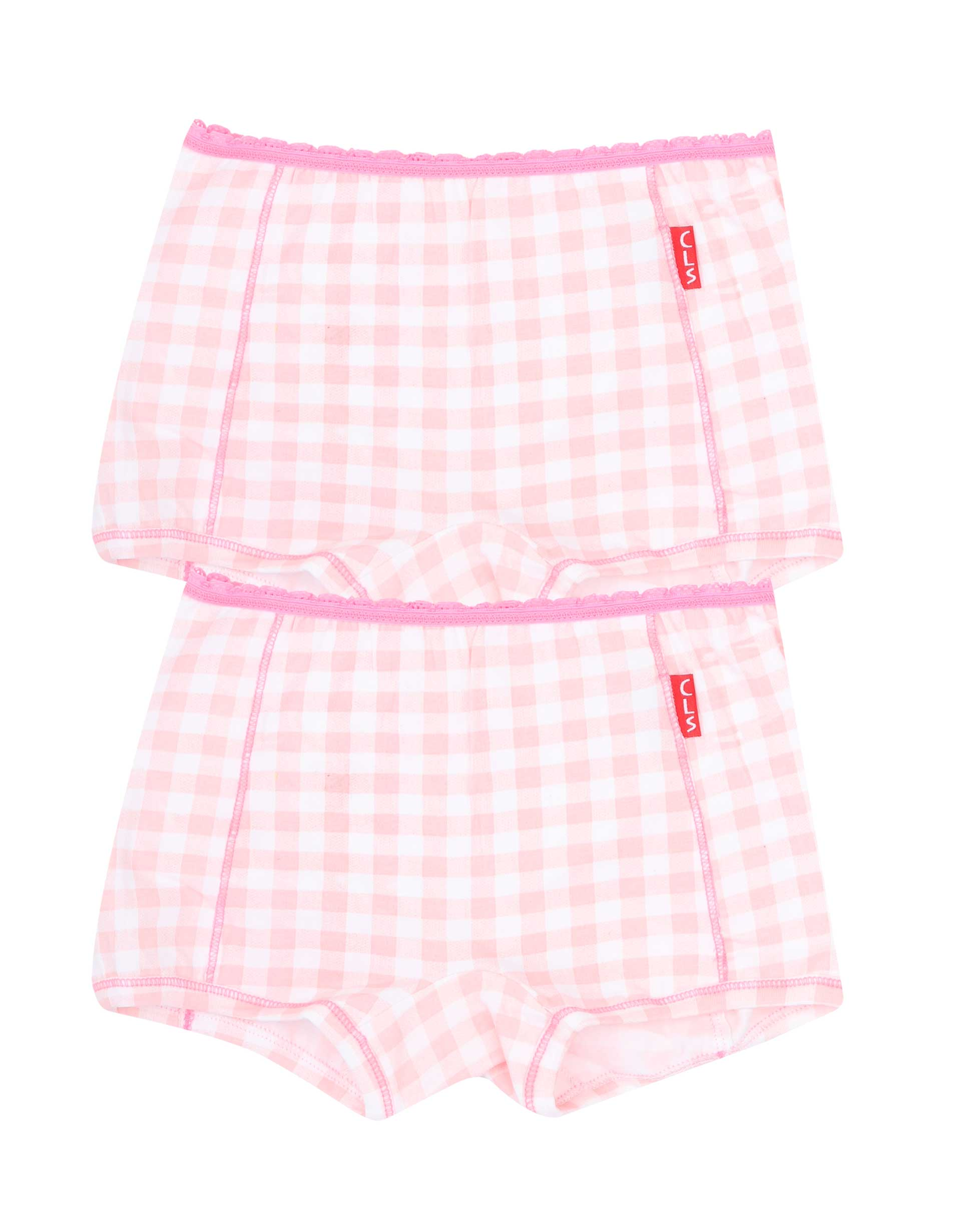 Boxershorts 2-pack Pink Checks